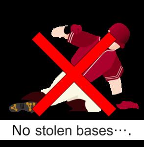 盗塁できず
